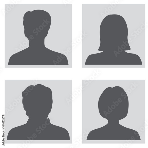 Fotografía  Avatar set. People profile silhouettes