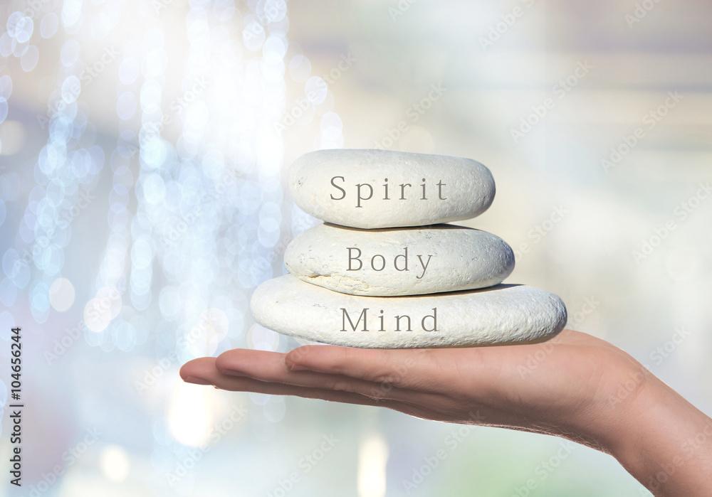 Fototapety, obrazy: Spirit, Body and Mind healthy lifestyle