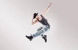 Fashion shot of a young hip hop dancer
