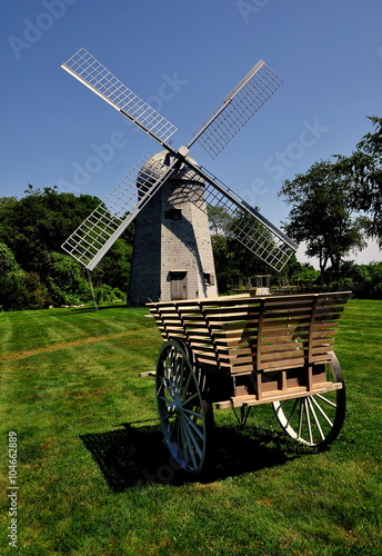 Photo  Middletown, Rhode Island:  1812 Robert Sherman shingled smock windmill and woode