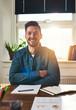 Smiling happy successful businessman