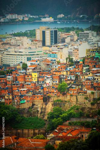 Fényképezés  Brazilian slum in Rio de Janeiro