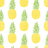 Cartoon pineapple on a white background. Simple vector backgroun - 104677645