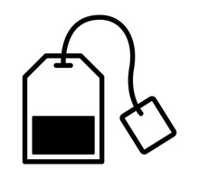 Teabag / Tea Bag Line Art Icon...