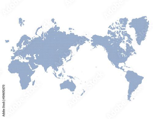 Poster Carte du monde 世界地図