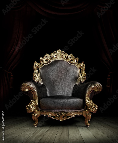 classic luxury chair Wall mural