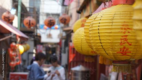 横浜中華街の裏道風景