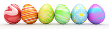 Line Of Colorful Easter Eggs I...