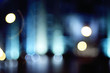 background blur night lights through the glass