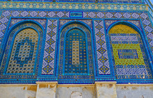The Arabic Screens Of The Dome Of The Rock