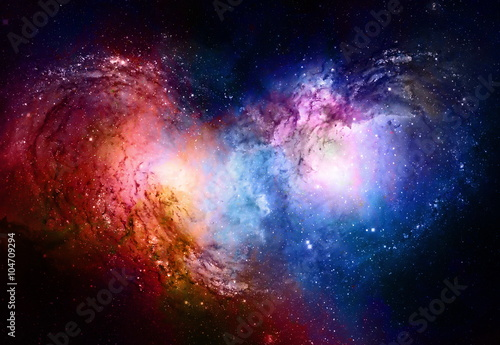 Obrazy na płótnie Canvas Nebula, Cosmic space and stars, blue cosmic abstract background. Elements of this image furnished by NASA.
