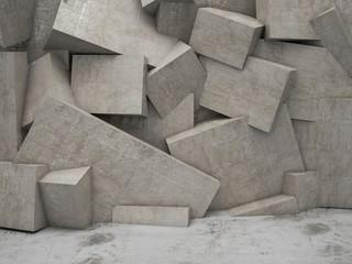 Naklejka 3d geometric wall