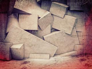 Fototapeta Wzory geometryczne 3d geometric wall