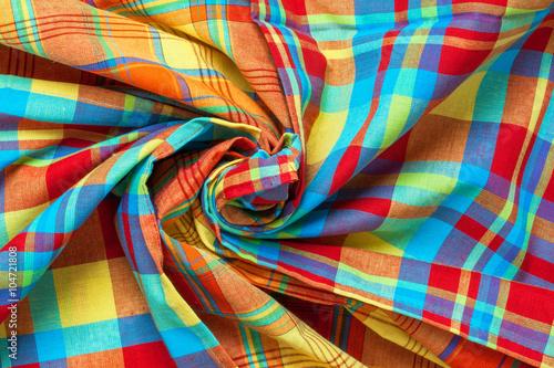 Nappes en madras enroulées, tradition des iles antillaises Canvas Print