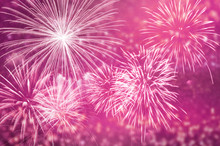 Pink Fireworks At Celebrate An...