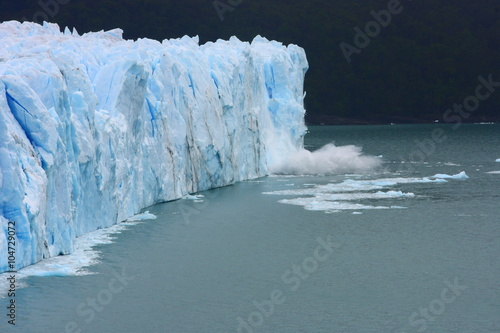 Fotobehang Gletsjers glacier/ while traveling through Argentina we visited this enormous glacier Perito Moreno that obviously suffered from global warming