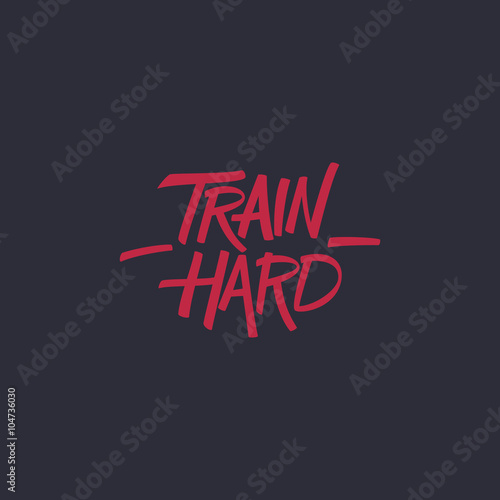 Train hard Canvas Print