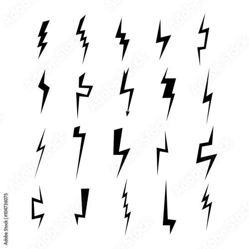 Fotografija Lightning silhouette