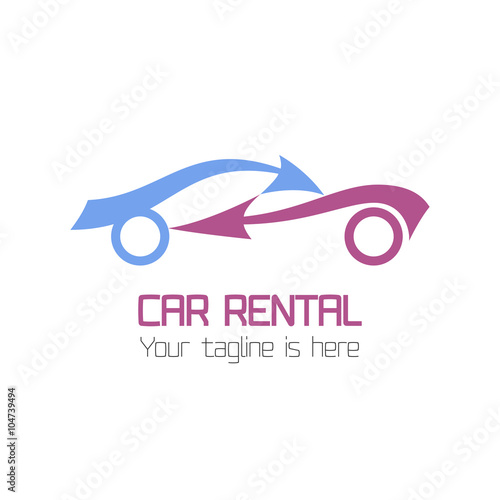Vector car rentals label. Vector logo design template. Concept for ...