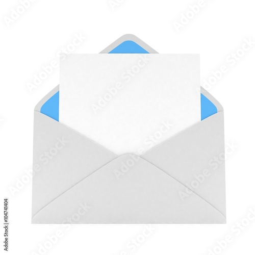 Fotografía  open mail with white blank