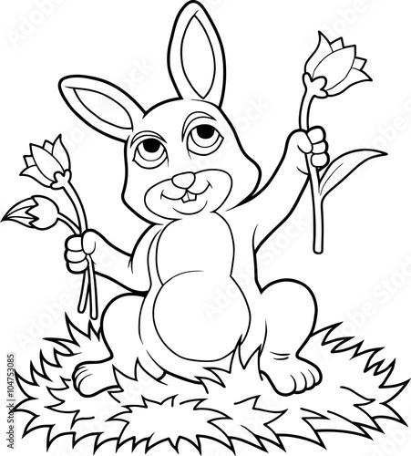 Tuinposter bunny