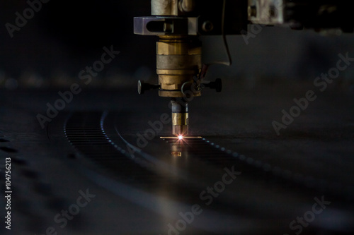 Poster de jardin Metal Laser cutting process