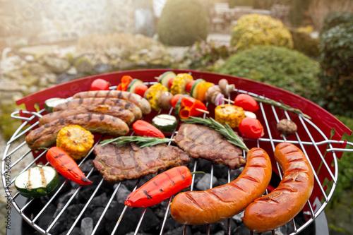 In de dag Grill / Barbecue Grillparty
