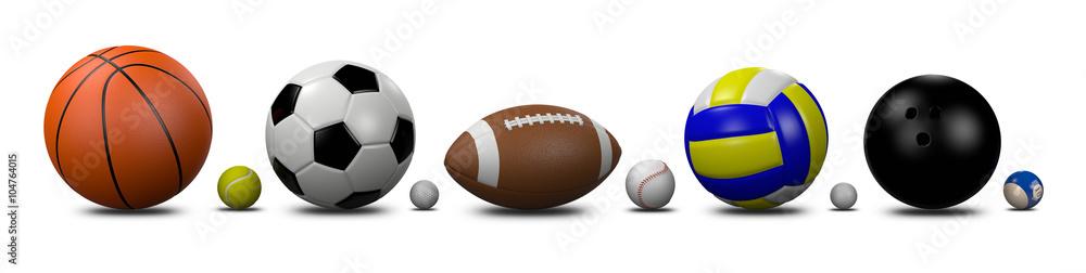 Fototapety, obrazy: Sports Balls Collection