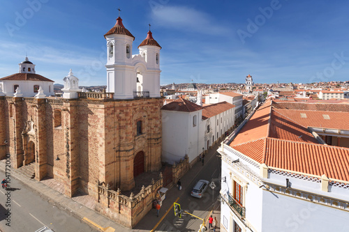 fototapeta na szkło Cityscape of Sucre, Bolivia