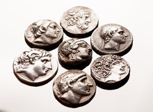 Ancient Greek Silver Coins On ...