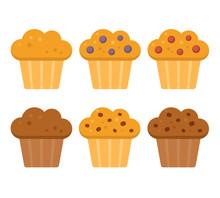 Cartoon Muffins Set