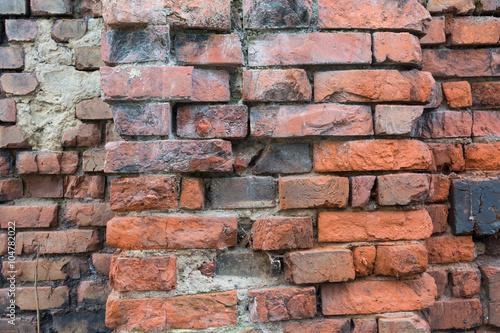 Stara cegła - ściana