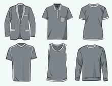 Mens Clothing Templates.
