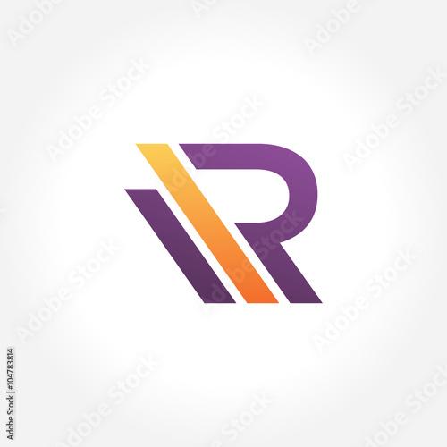 Photo  Stylish Modern Letter R