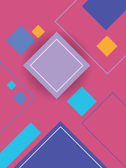 Panel Szklany Abstrakcja Modern material design background with geometric shapes and bright colors.