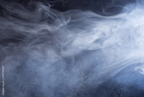 Photo  Glowing Abstract Background of Swirling Smoke