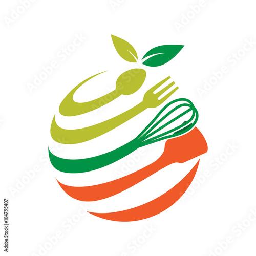 Fresh Kitchen Tool Food Ball Logo Template Buy This Stock
