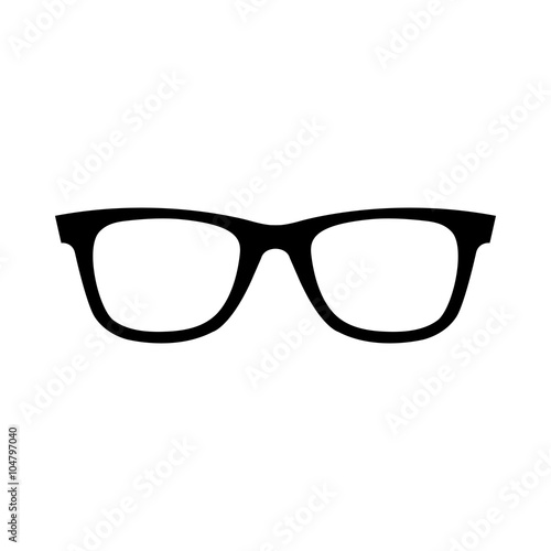Fényképezés  Eye Glasses vector icon
