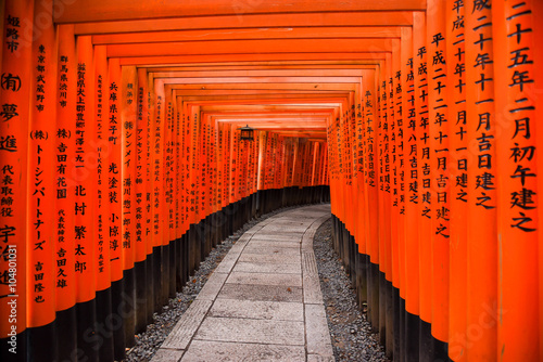 Photo Stands Japan Fushimi Inari shrine in Kyoto, Japan