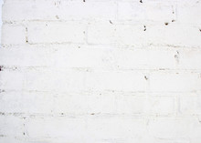 White Bricks Wall Background
