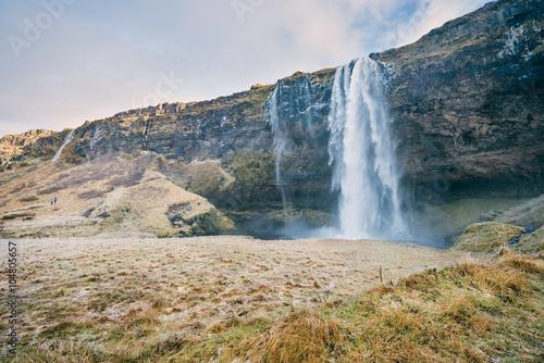 Papiers peints Cascade Seljalandsfoss Waterfall, Iceland