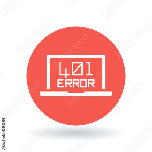 Fotografie, Obraz  401 Unauthorized Error icon
