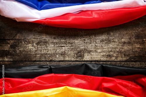 Photo  Flagge Frankreich und Deutschland, Konzept Partnerstädte und Wi