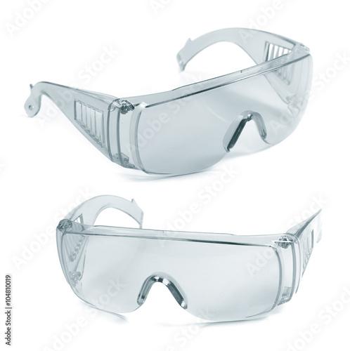 Fényképezés  safety glasses isolated on white
