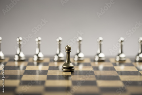 Photo  Chess business concept, leader & success