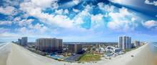 Daytona Beach, Florida. Stunning Aerial View On A Beautiful Day