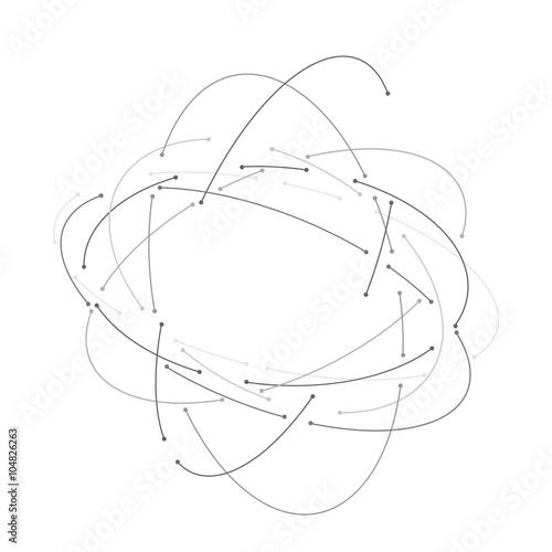 Vector orbit lines Wallpaper Mural