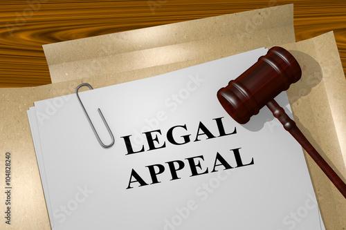 Photo Legal Appeal concept