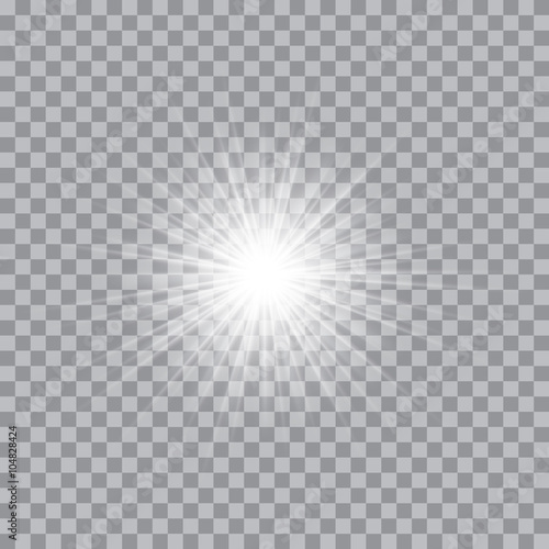 Photo Vector glowing light bursts with sparkles