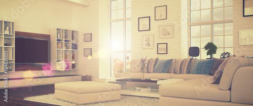 Modernes Wohnzimmer - Retro Style - Shot 41 – kaufen Sie diese ...